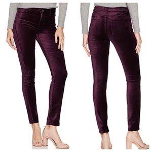 Paige Hoxton Ankle Velvet Jeans Black Cherry 28